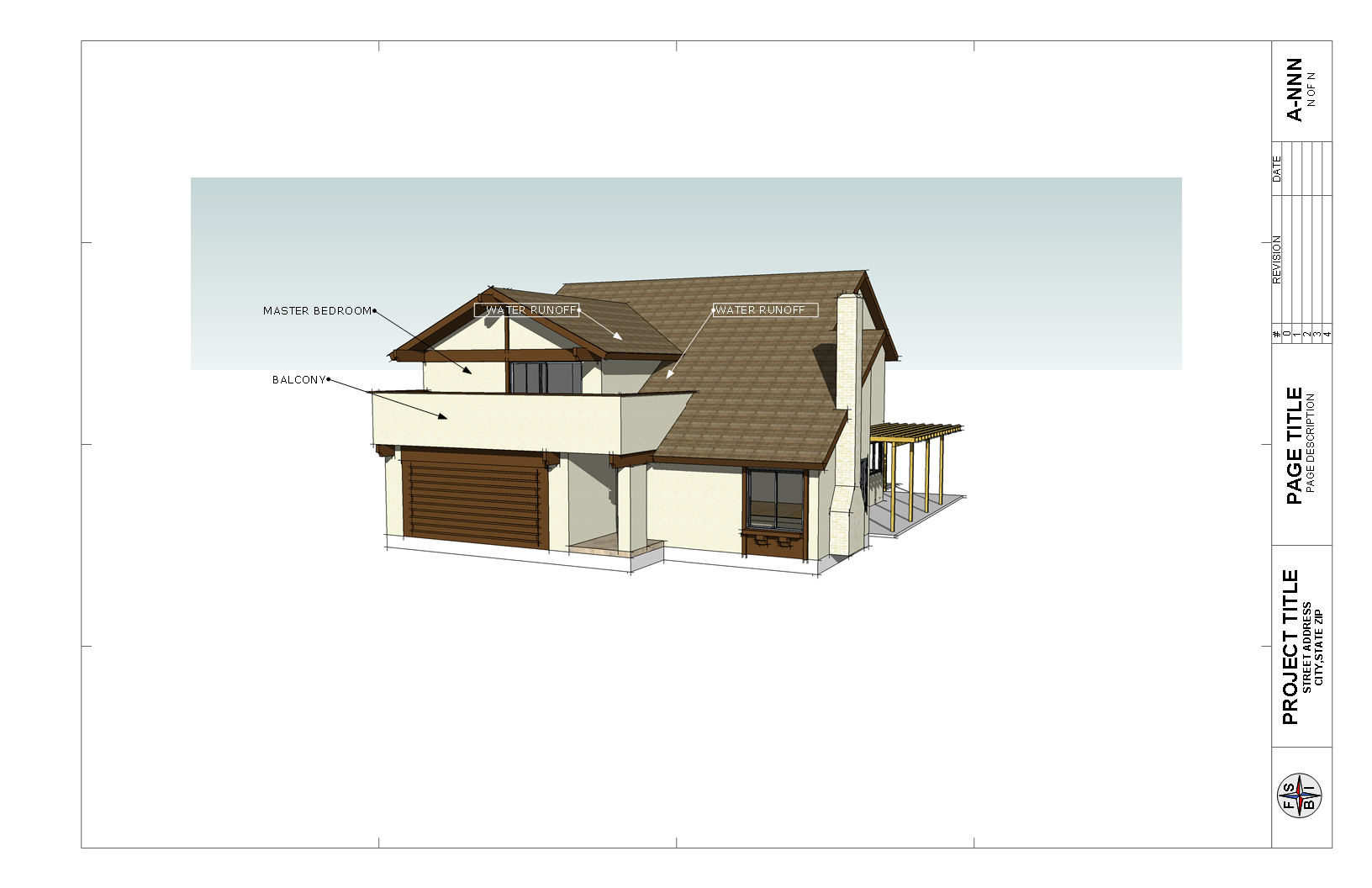 Architectural Design The Addition And Fixing The Roof