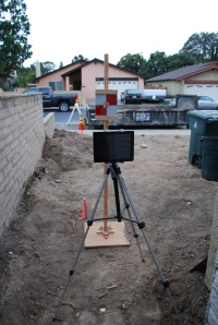 Theodolite and Surveyor Stick