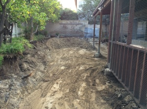 Patio Cover Footings -- Before.