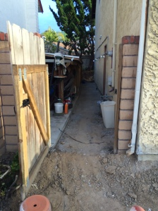 Side Yard... Lots of handwork BC the skid steer wouldn't fit!
