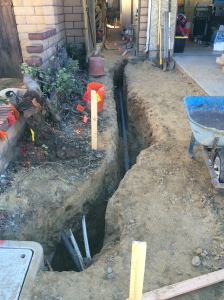 ELECTRICAL SERVICE TRENCH (Before)
