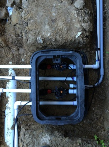 FRONT IRRIGATION PIPE LAYOUT