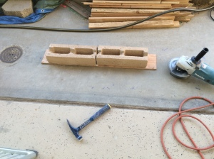 """Making the Lintel. The 7"""" grinder is a new tool Santa gave me for Christmas!"""