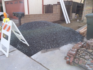That there is a cubic butt ton of gravel to move!