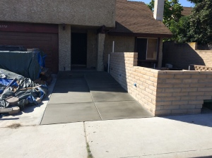 Finished  Front Sidewalk and Ramp