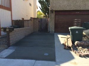 Finished Side Yard