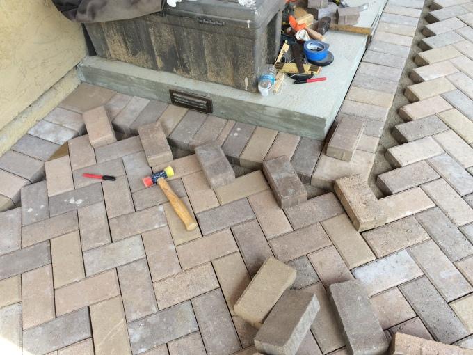 Step #1: Line up your bricks.