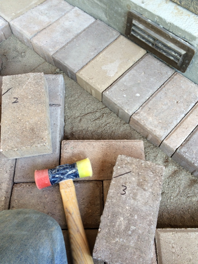 Step #4: Number your bricks so you'll remember where they go.