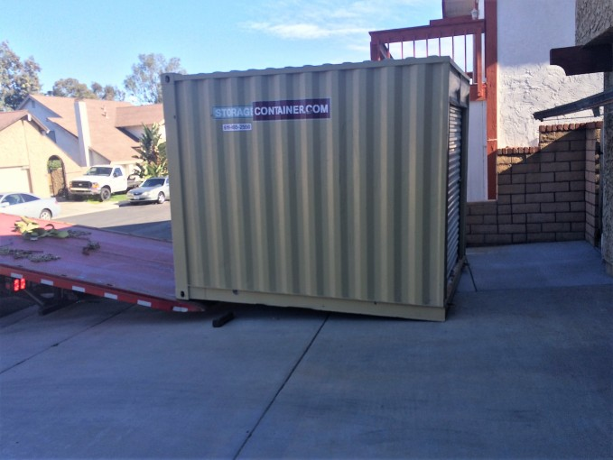 Here is the 8x10 container. It fits the area very nicely.