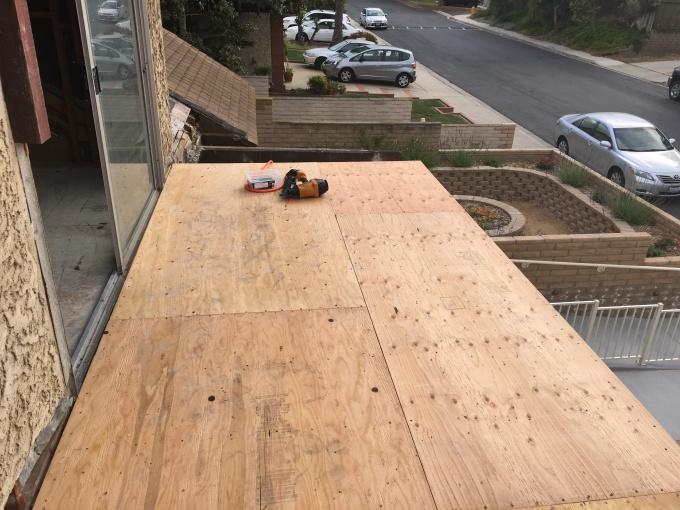 New deck installed.