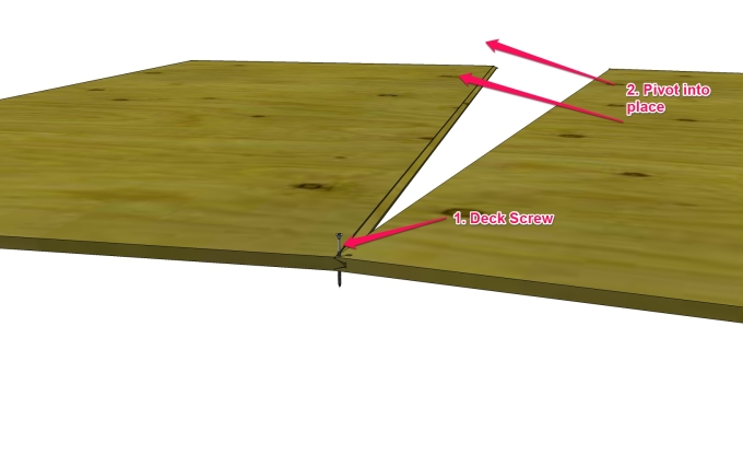 How to mate tongue and groove plywood by yourself.