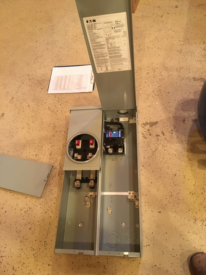 My brand-new meter panel. This is just like Christmas!