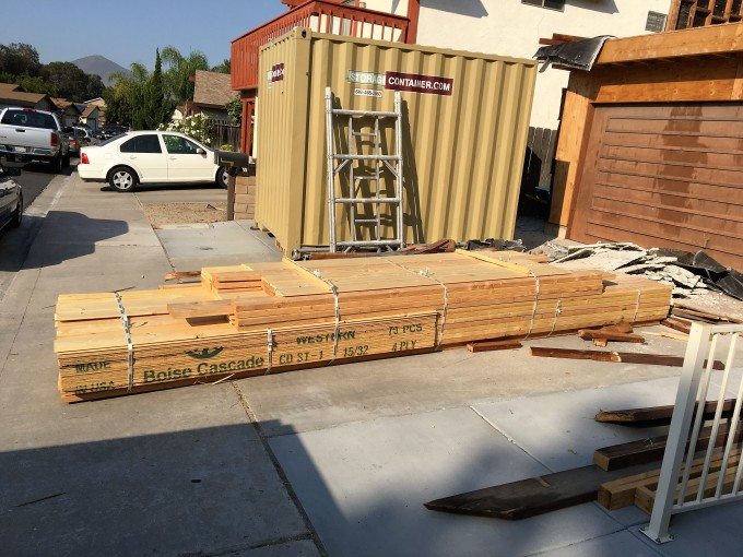 Lumber delivered. Now, to get it up to the 2nd floor!