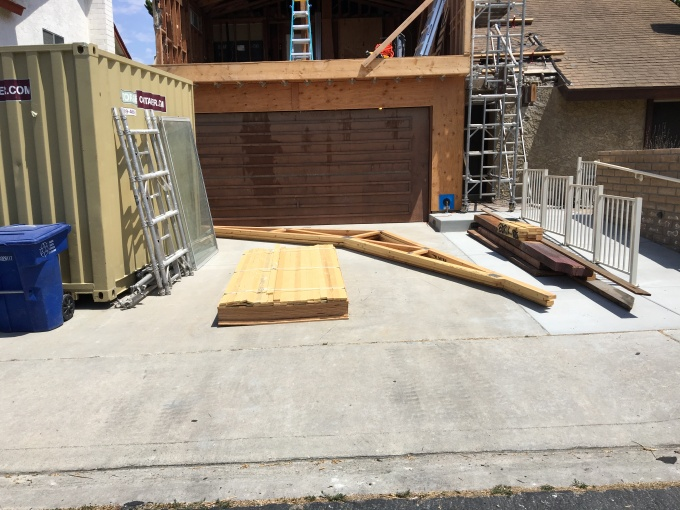 Trusses delivered.
